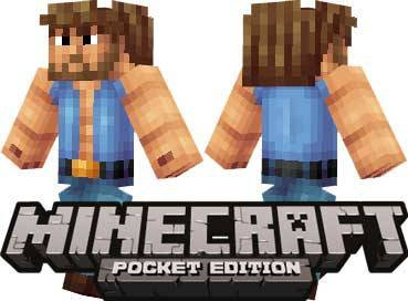 Скин Чак Норриса для Minecraft PE