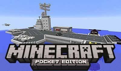 Карта Авианосец для Minecraft PE 0.9.5 и 0.10.0