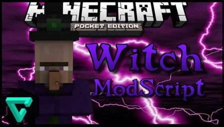 Мод Hostile Witches для Minecraft PE 0.9.5, 0.10.0