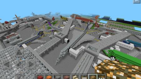 Карта HUGE-AIRPORT для Minecraft PE 0.9.5, 0.10.0
