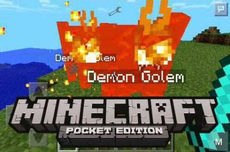 Скрипт DEMON GOLEM для Minecraft PE 0.9.5 и 0.10.0