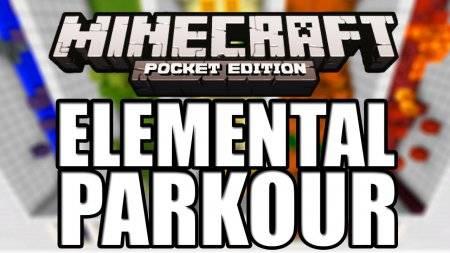Карта Elementar parkour для Minecraft PE 0.9.5 и 0.10.0