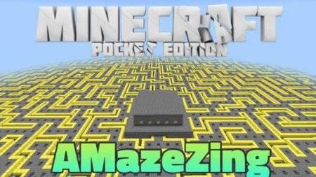 Карта-лабиринт AMazeZing для Minecraft PE 0.9.5 и 0.10.0