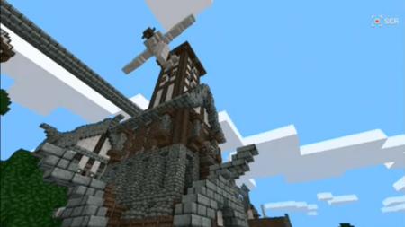 Карта-постройка Облачная турбина для Minecraft PE 0.9.5 и 0.10.0