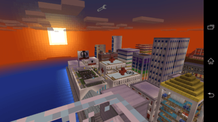 Карта-город City of Democratia для Minecraft PE 0.9.5 и 0.10.0