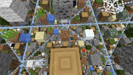 Карта SkyGrid для Minecraft PE 0.10.0 и 0.10.4