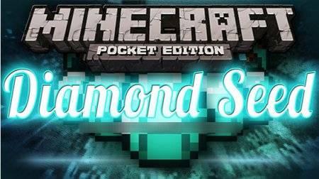 Сид с 25 алмазами под спауном для Minecraft PE 0.10.0 - 0.10.4