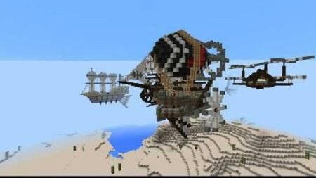 Карта Sky of Steampunk для Minecraft PE 0.10.0 - 0.10.4