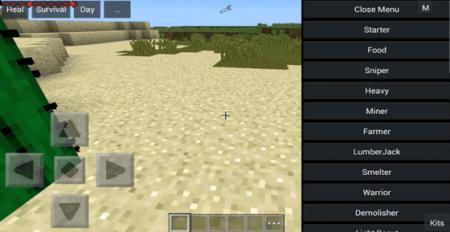 Мод Kits v5.1 для Minecraft PE 0.10.0 - 0.10.4