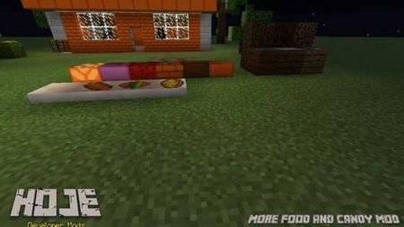 Мод на еду и сладости для Minecraft PE 0.10.0 - 0.10.4