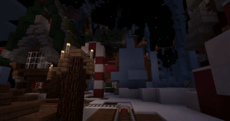 Карта Candy Cane Hills для Minecraft PE 0.10.0 - 0.10.4