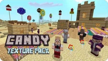 Текстуры Candy для Minecraft PE 0.9.5 и 0.10.0