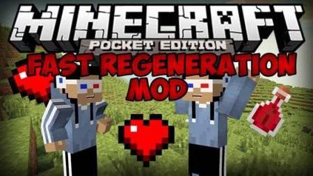 Мод на здоровье - Fast Regeneration для Minecraft PE 0.10.0 - 0.10.4