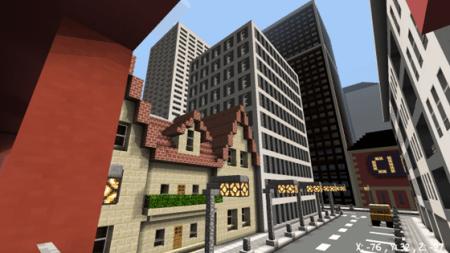 Карта TimCity - небольшой городок для Minecraft PE 0.10.0 - 0.10.4