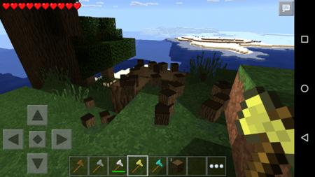 Мод TreeLogger - лесоруб для Minecraft PE 0.10.0 - 0.10.4