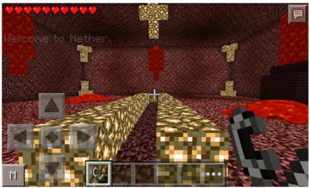 Мод The Nether - попади в Ад для Minecraft PE 0.10.4
