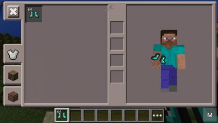 Мод Stomper Boots для Minecraft PE 0.10.0 и 0.10.4