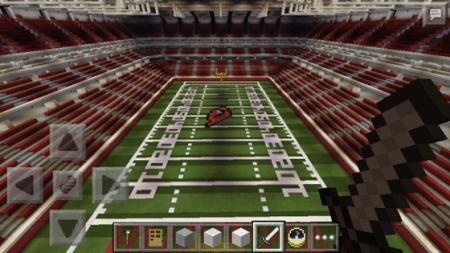 Карта-стадион University of Phoenix для Minecraft PE 0.10.4 и 0.10.0