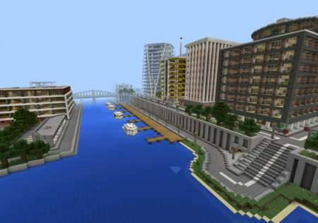Карта Город Тазадер 2015 для Minecraft PE