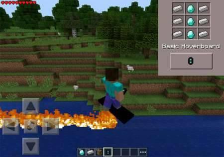 Мод Ховерборд - летающая доска в Minecraft PE
