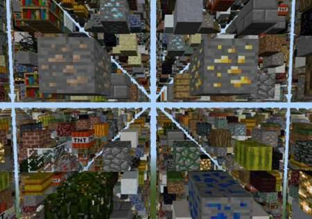 Мод Skygrid - Небесная решётка для Minecraft PE