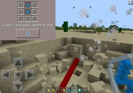 Мод Lightning Gem для Minecraft PE