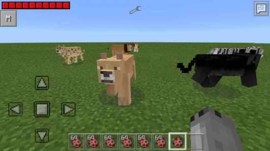 Big Cats Mod v2.0 для Pocket Edition 0.11.1, 0.11.0 и 0.10.5
