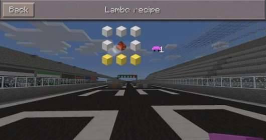 Мод на машину Ламборгини в Minecraft PE + Карта