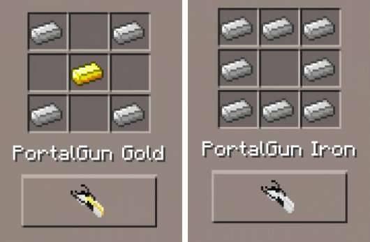 Portal Gun 2 Mod для Minecraft PE