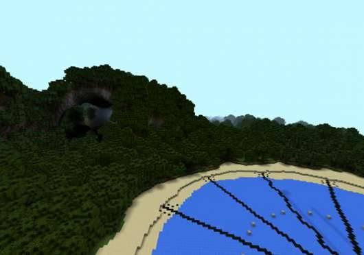 PvP-арена Голодные игры: И вспыхнет пламя для Minecraft PE