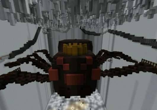 Карта Сражение с боссом пауком для Майнкрафт PE