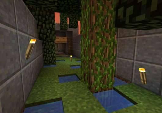 Карта Wolf Run - убеги от волка для Minecraft PE