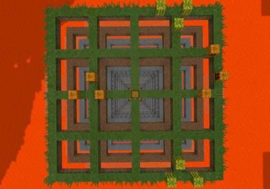 The Grid PE - карта на выживание в MCPE