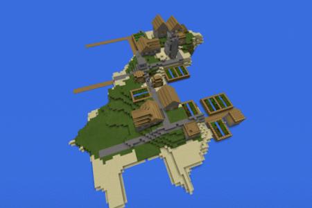 Village Island Seed для Minecraft PE