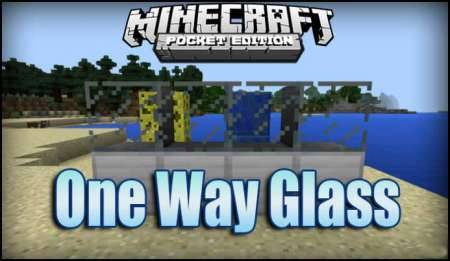 Мод One Way Glass для Minecraft PE