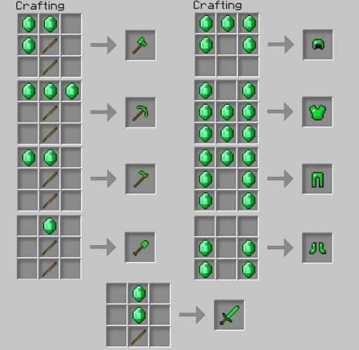 Мод EmeraldCraft 2.0 для Minecraft PE