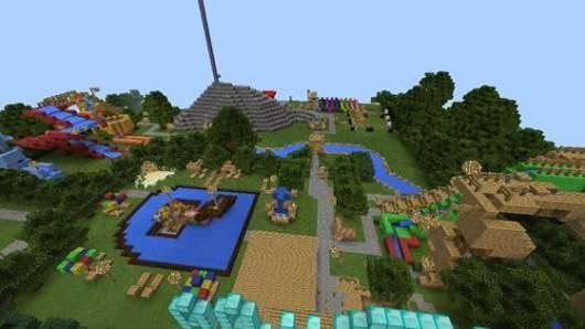 Карта Aquatic Park - аквапарк в Minecraft PE 0.10.4 и 0.10.0