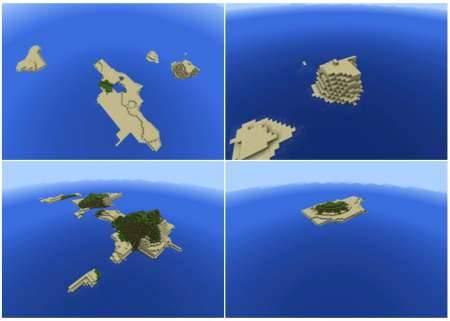 Сид на острова в океане для Minecraft PE