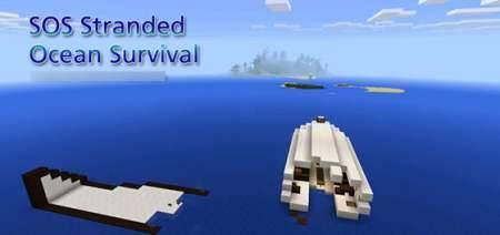 Карта S.O.S - Выжить на острове в Майнкрафт PE
