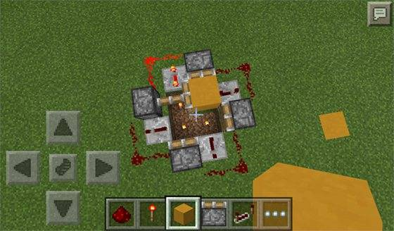 Как сделать редстоун лампу в minecraft