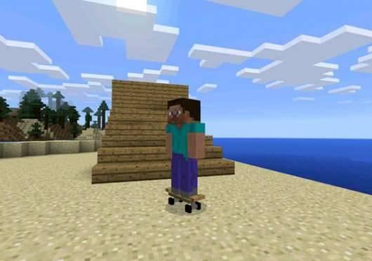 Skateboard - мод на скейтборды в Minecraft PE