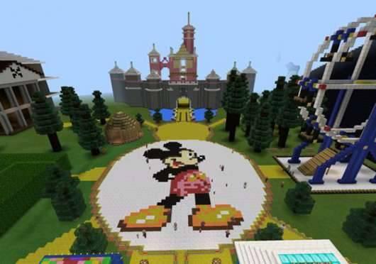 Карта Disneyland - Диснейленд в MCPE