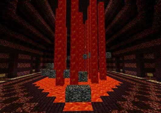 Карта Lava Runner - убеги от лавы в Minecraft PE