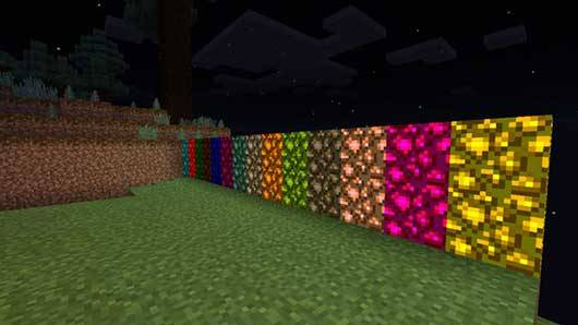 Colored Glowstone Mod - ����� ���������� ����� � MCPE