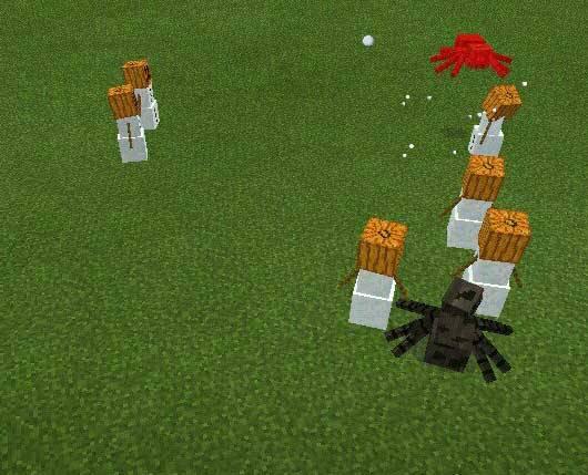 Создаем снежного Голема в Minecraft PE