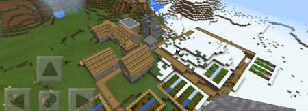 Деревня в снежных биомах