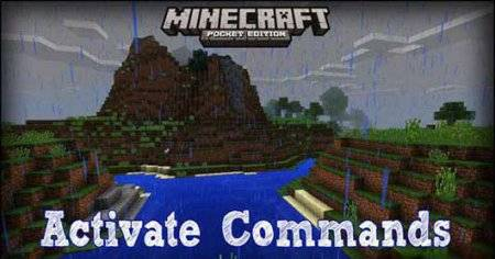 Activate Commands Mod для Minecraft PE 0.13.0