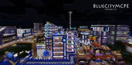 "Карта ""Blue City v3.0"" для Minecraft PE"