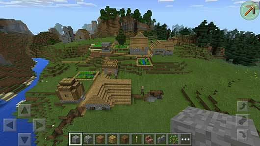 Mega Villages SEED ��� Minecraft PE
