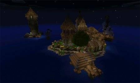 "Карта ""Medieval Island Village"" для Minecraft PE"